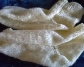 Hand knitted slouchy style socks