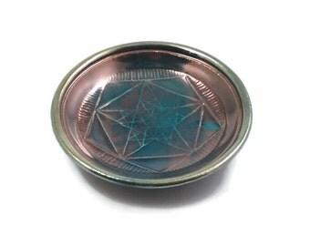 Pentagram Crop Circle Offering Bowl Handmade Pottery