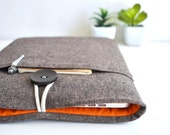 "11.6"" Chromebook Case Samsung, Asus, Acer Chromebook Sleeve 13"", 15"" Custom Size Padded Cover - Brown and Orange"