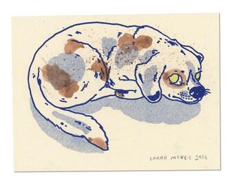 Hand painted Dog Print 04