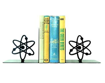 Atomic Symbol Metal Art Bookends - Free USA Shipping