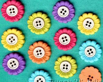 SEW CUTE SUNFLOWERS - Summer Flower Novelty Dress It Up Sewing Craft Buttons
