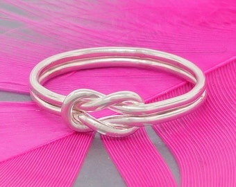 Celtic love knot ring, sterling silver ring, purity ring, commitment ring, friendship ring, best friends ring, mother daughter ring