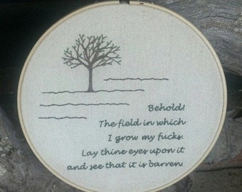 Field of F#@ks Embroidery Art