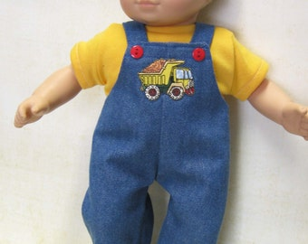 Bib-Overall with Dump Truck Outfit for Bitty Baby Doll