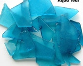 Sea Glass Bulk, Beach Wedding Decor, Sea Glass Decor, Beach Glass Bulk, Nautical Home Decor Beach Glass in AQUA TEAL - 2 Pounds - #SGBAT
