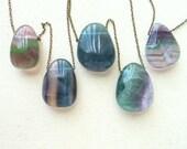 Custom listing for Bri -Fluorite pendant