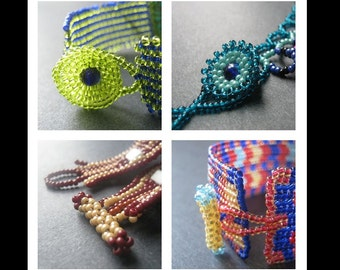 Beading Tutorial. Beaded Button and Toggle Clasps Collection (Open Licence)