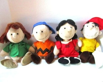 CHOICE Vintage Peanuts Gang, Charlie Brown Lucy Linus Peppermint Patty Plush Stuffed Toys Charles Schultz Book Movie Cartoon Comic Character