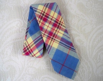 Vintage Accessory Necktie Madras Robert Talbott Preppy Hand Sewn Tie