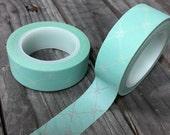 Washi Tape - 15mm - Tiffany Blue Lattice Pattern - Deco Paper Tape - No. 688