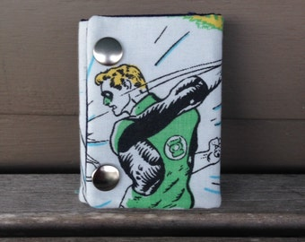 DC Comics The Green Lantern 3 Fold Chain Wallet Recycled