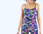 Neon Fish - Printed Lycra Catsuit - Festival Jumpsuit