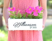Rustic Personalized Planter Box Wedding Bridal Shower Home Decor Gift #MorgannHillDesigns #BraggingBags Quick Shipping Available #NVMHDA1160