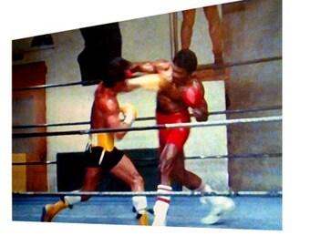 Rocky v Apollo creed movie A2 poster art print