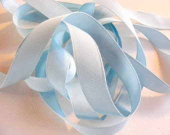 Vintage 1930's-40's Grosgrain Ribbon -Milliners Stock- 11/16 inch Powder Blue