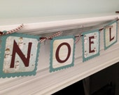Holiday banner, Noel banner, Christmas banner, banner for mantle, holiday decorations, photo prop