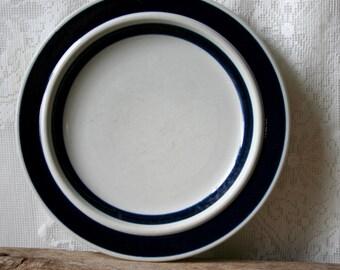 "Vintage Arabia Finland Salad Plates X4 Ulla Procope Anemone 7 7/8"""