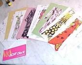Retro Postcard Book OSSIE CLARK 70s Clothing Photos Victoria & Albert Museum London Never Used