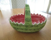 vintage watermellon planter