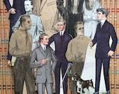 Lot of Vintage Paper Dolls--the Men