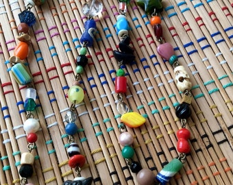 Beautiful Beaded Necklace:  All the Colors in the Crayon Box