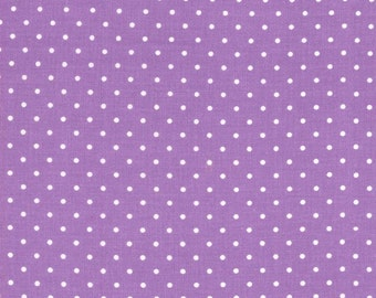 Purple Pinhead Fabric from Michael Miller - 1/2 Yard - Half Yard - Pin Dots - CX5514-PURP-D