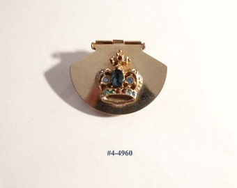 FREE SHIP Unusual Crown Dress Clip and Brooch Combination (4-4960)