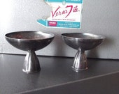 50% OFF Sale One Pair of Beautiful Vintage Mid Century Mod Oneida Silversmiths Silver Plate Candle Holders