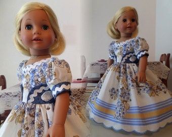18 Inch Doll Clothes / Doll Dress And Doll Petticoat / Doll Clothes / Doll Clothing / Doll Accessories - Fits American Girl Doll 1026