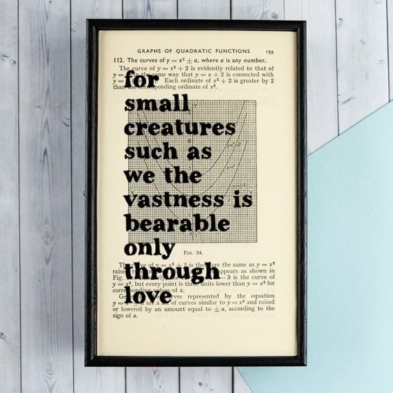 Carl Sagan - Love Quote - Nursery Decor - Baby Shower Gift - Baby Room Wall Art - For Small Creatures Such As We The Vastness Is Bearable...