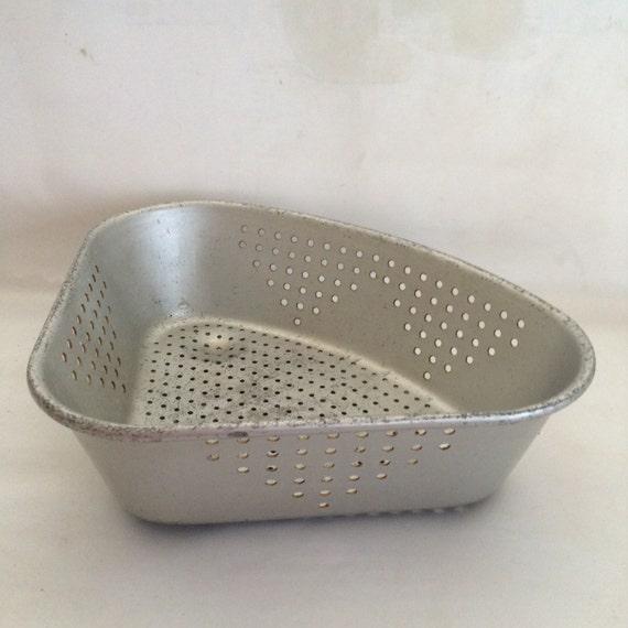 Corner Sink Strainer : Vintage Aluminum Wear Ever Corner Sink Strainer