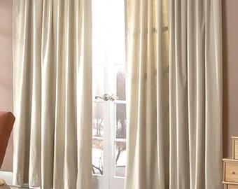 Solid color linen drapes, natural, linen curtain panels, natural linen panels,