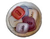 n. 18 Vintage square resin buttons 2 holes 6 colors