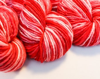 Winterberry - Hand Dyed Wool Worsted Weight Single Ply Yarn on Swift Fox Base