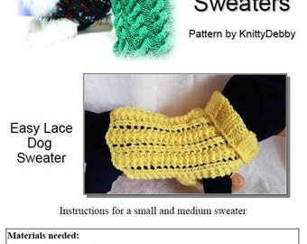 Basic Ribbed Dog Sweater Knitting pattern Very Easy to ...