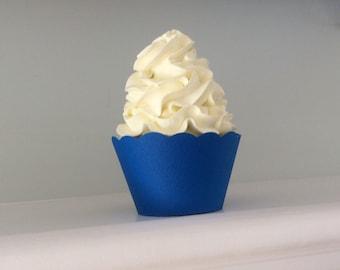 Blue Cupcake Wrappers Deep Blue Nautical Blue Sea Blue