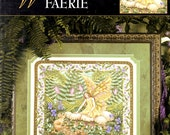 Woodland Faerie Fairy Mouse Mushrooms Violets Wings Teresa Wentzler Counted Cross Stitch Embroidery Pattern Craft Leaflet 3342 Leisure Arts