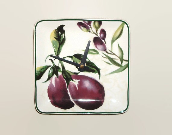 eggplant kitchen accessories eggplant clock unique wall clock small clock kitchen 3534