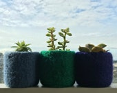 Felt Bowl Felted Mini Ring Bowls Dish Summer Colors Home Decor Wool Blue Green Purple Tiny Planter Hostess Best Friend Bridesmaid Gift