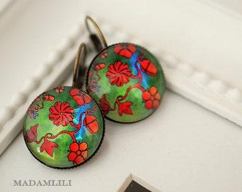 Retro Spring Bronze Earrings