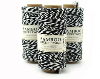 Black Bakers Twine, Bamboo Cord, Baker Twine, Black Twine, Party Twine, Twine Bamboo -T62
