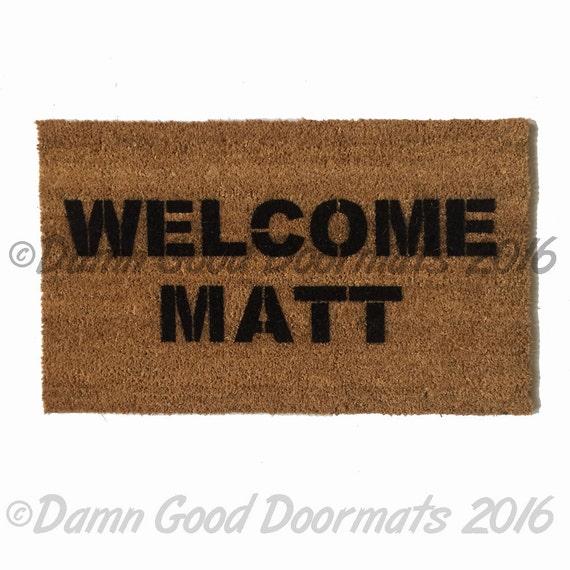 Welcome Matt Funny Door Mat Doormat Eco Friendly