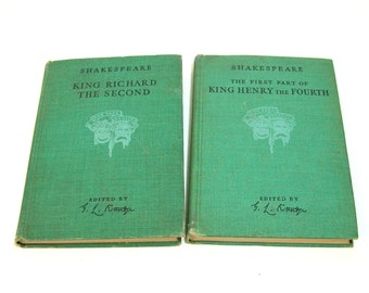 Shakespeare, Two Volumes, King Richard The Second, King Henry the Fourth