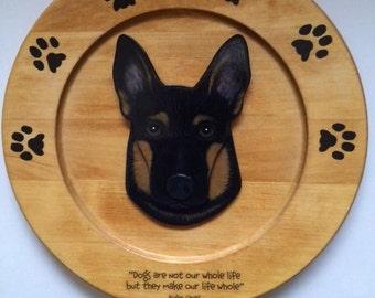 Pet Portrait Wood Plate