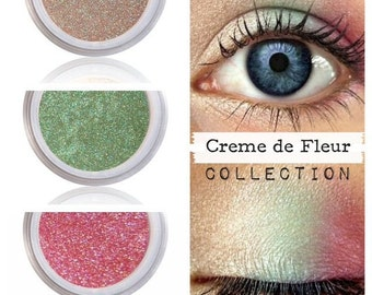 Eyeshadow Kit Palette, Romantic Eye Look, Romantic Eye Shadow, CREME De FLEUR, Natural Mineral Eye Colors, Vegan Make Up, Vegan Eye Color