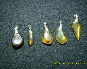 Dominican Amber Pendants