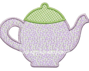 339 Teapot 2 Machine Embroidery Applique Design