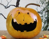 Halloween Gourd Jack O Lantern Primitive Pumpkin Decoration