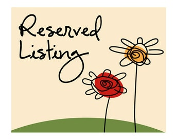Reserved Listing For Pat